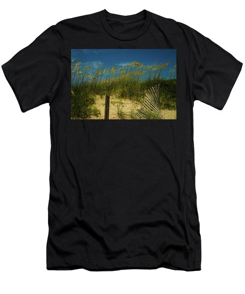 Sea Oats And Sand Fence Men's T-Shirt (Athletic Fit)