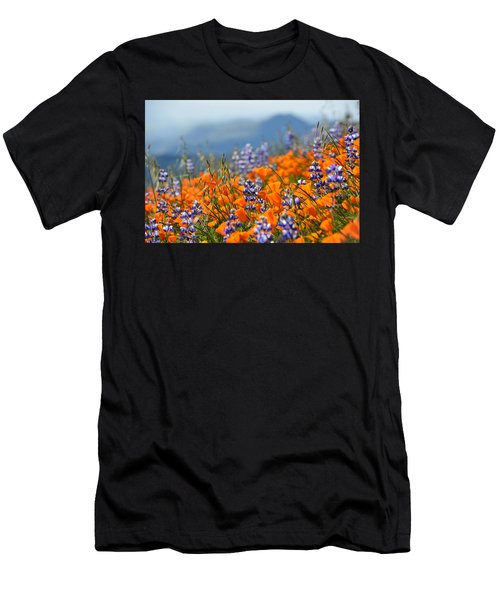 Sea Of California Wildflowers Men's T-Shirt (Athletic Fit)