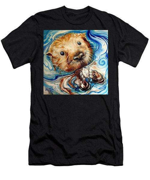 Sea Otter Swim Men's T-Shirt (Athletic Fit)