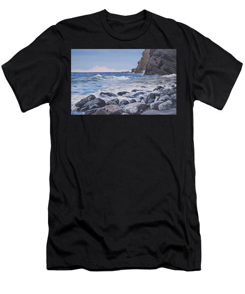 Sea Pounded Stones At Crackington Haven Men's T-Shirt (Athletic Fit)