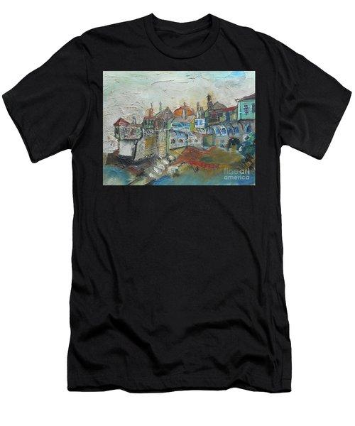 Sea Shore Village Men's T-Shirt (Athletic Fit)