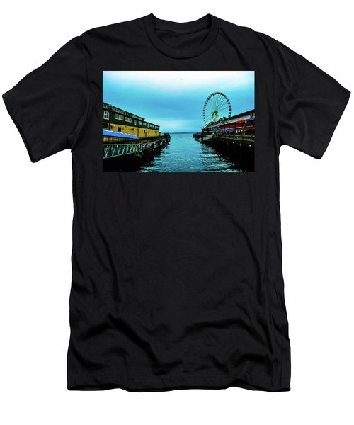 Sea Side, Seattle 2 Men's T-Shirt (Athletic Fit)