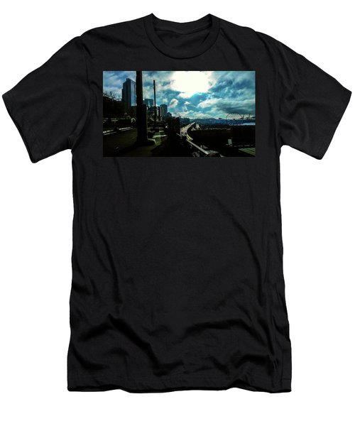 Sea Side, Seattle  Men's T-Shirt (Athletic Fit)