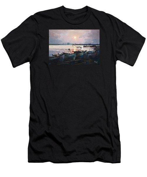 Sea Sunset Men's T-Shirt (Athletic Fit)