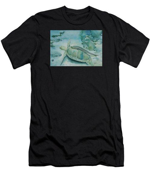 Sea Turtle And Friend Men's T-Shirt (Athletic Fit)