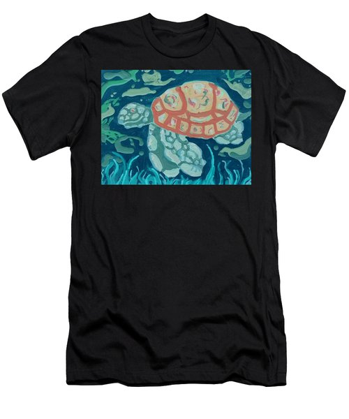 Sea Turtle At Twilight  Men's T-Shirt (Athletic Fit)