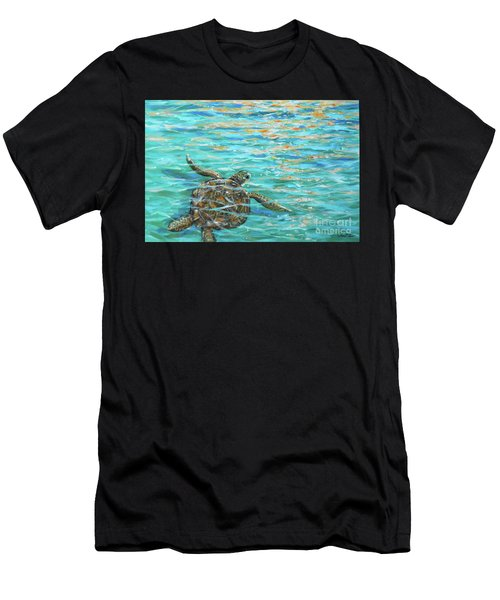 Sea Turtle Dream Men's T-Shirt (Athletic Fit)
