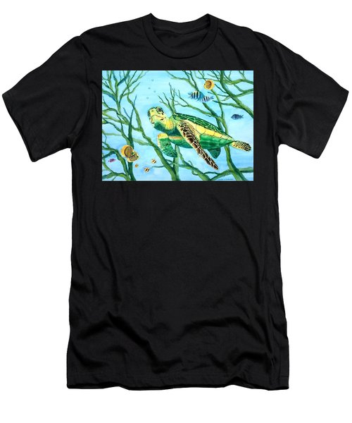 Sea Turtle Series #3 Men's T-Shirt (Athletic Fit)