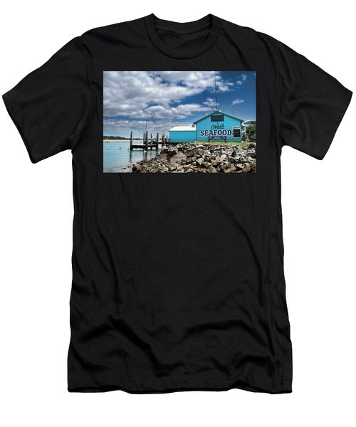 Seafood On The River  Men's T-Shirt (Athletic Fit)