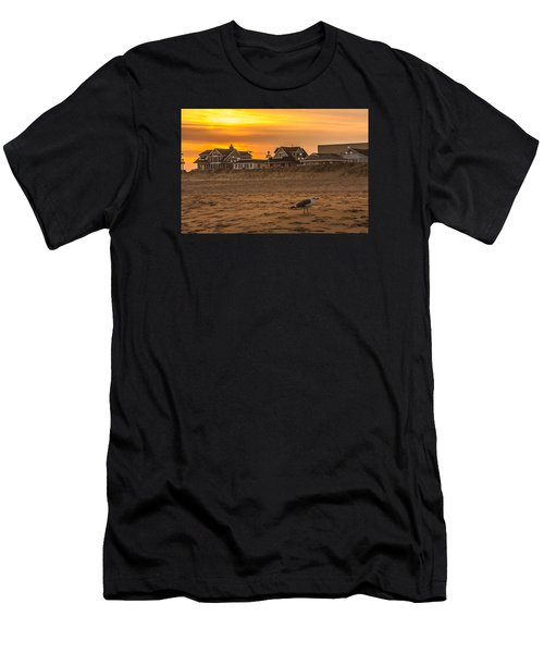 Seagull At Sunset Men's T-Shirt (Athletic Fit)