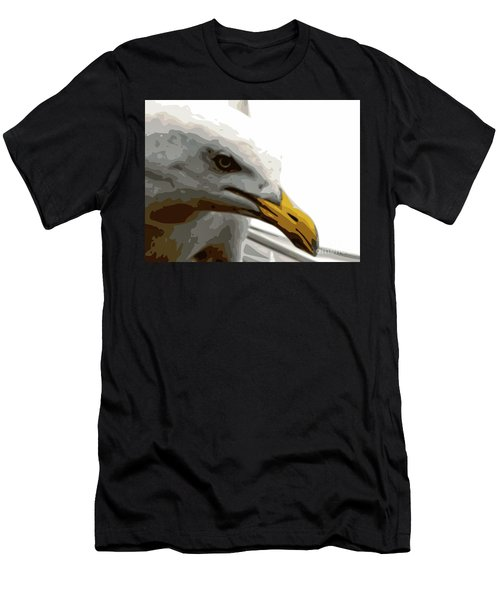 Seagull Closeup Men's T-Shirt (Athletic Fit)