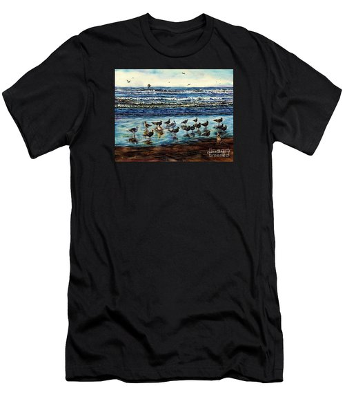Seagull Get-together Men's T-Shirt (Athletic Fit)
