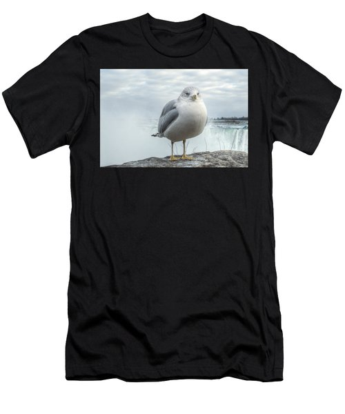 Men's T-Shirt (Athletic Fit) featuring the photograph Seagull Model by Garvin Hunter