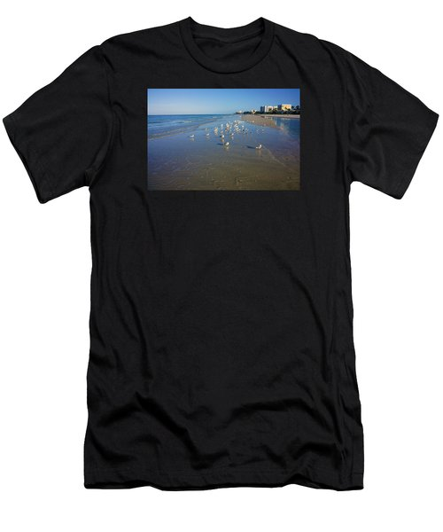 Seagulls And Terns On The Beach In Naples, Fl Men's T-Shirt (Athletic Fit)