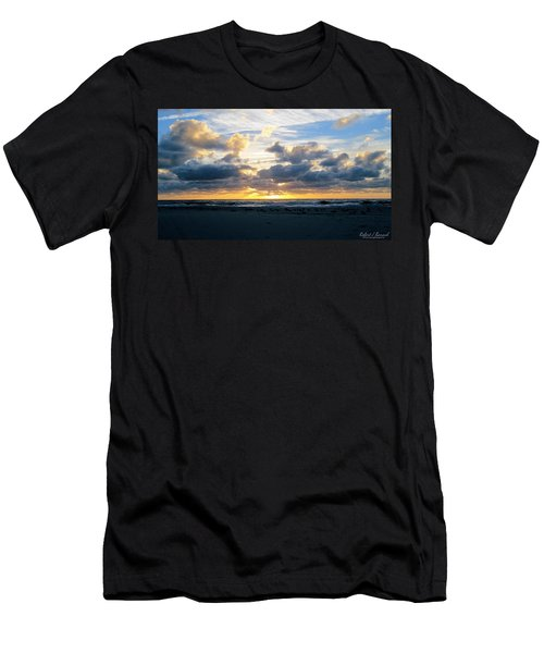 Seagulls On The Beach At Sunrise Men's T-Shirt (Athletic Fit)