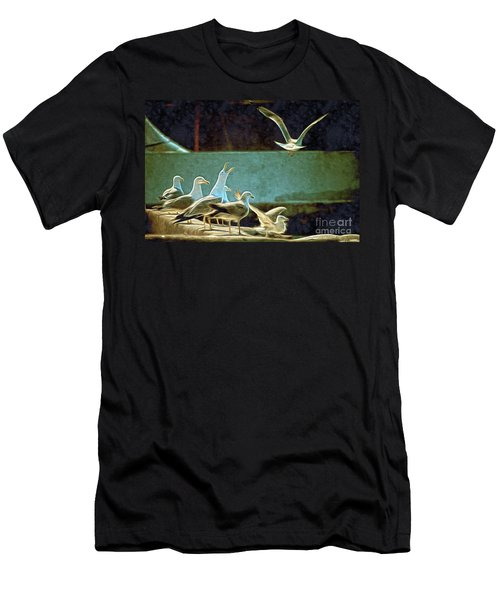 Seagulls On The Beach Men's T-Shirt (Athletic Fit)