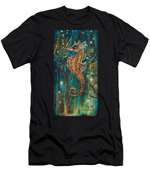 Seahorse And Kelp Men's T-Shirt (Athletic Fit)