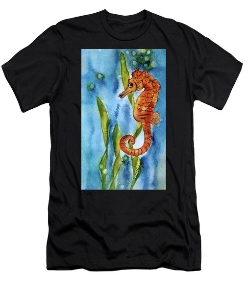 Seahorse With Sea Grass Men's T-Shirt (Athletic Fit)