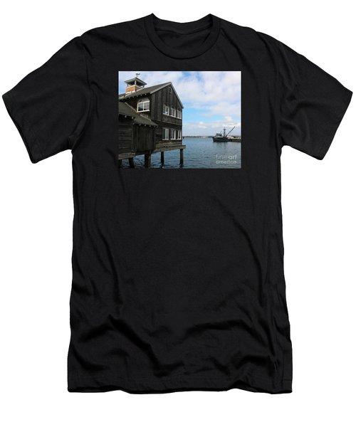 Seaport Village San Diego Men's T-Shirt (Slim Fit) by Cheryl Del Toro