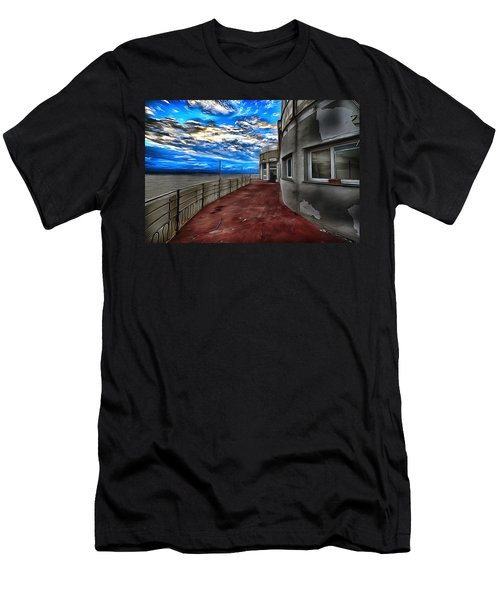 Seascape Atmosphere - Atmosfera Di Mare Dig Paint Version Men's T-Shirt (Athletic Fit)