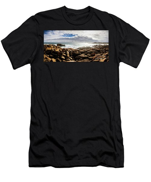 Seascape In Harmony Men's T-Shirt (Athletic Fit)