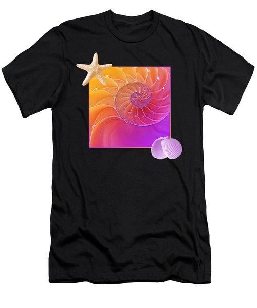 Seashell Summer Fantasy Men's T-Shirt (Athletic Fit)