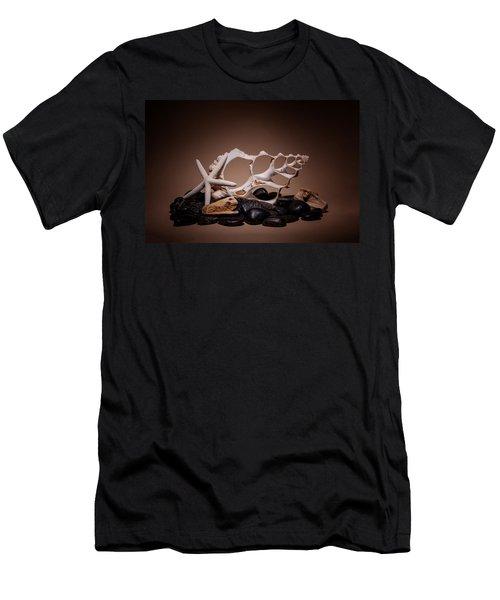 Seashells On The Rocks Men's T-Shirt (Athletic Fit)