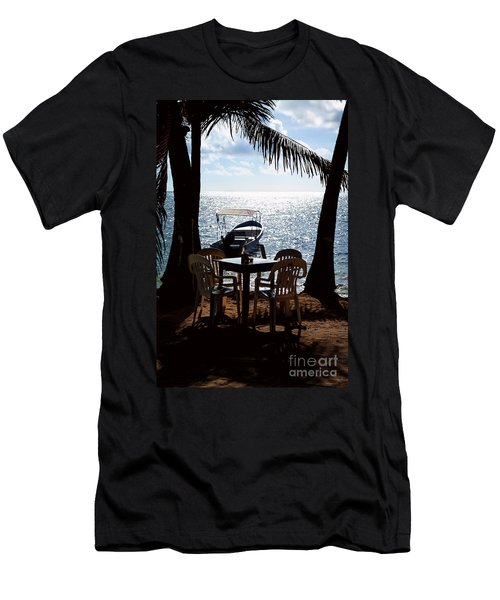 Seaside Dining Men's T-Shirt (Slim Fit) by Lawrence Burry