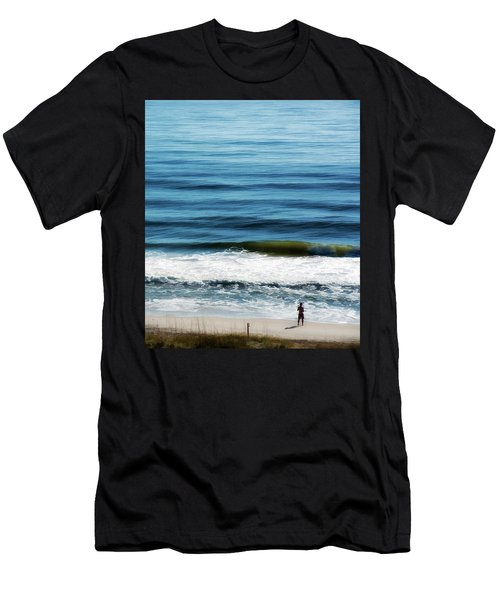 Seaside Fisherman Men's T-Shirt (Slim Fit) by Glenn Gemmell