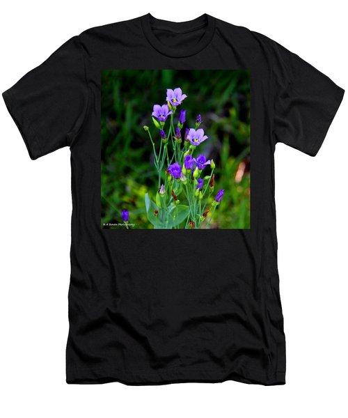 Seaside Gentian Wildflower  Men's T-Shirt (Athletic Fit)