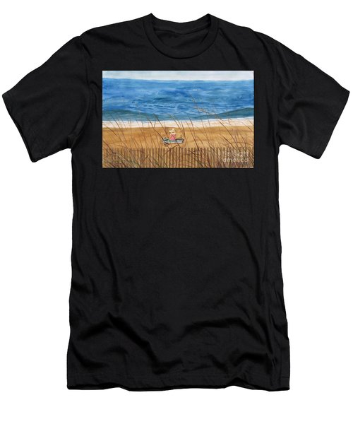 Seaside In Massachusetts Men's T-Shirt (Athletic Fit)
