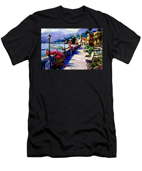 Seaside Pathway Men's T-Shirt (Slim Fit) by Ron Chambers