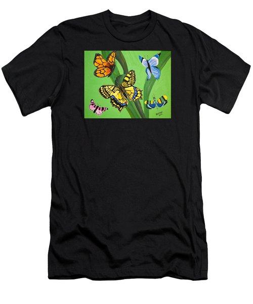 Season Of Butterflies Men's T-Shirt (Athletic Fit)
