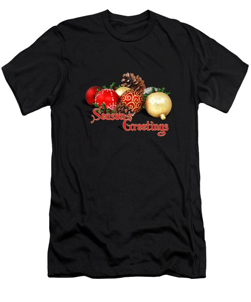 Seasons Greetings - Ornaments  Men's T-Shirt (Athletic Fit)