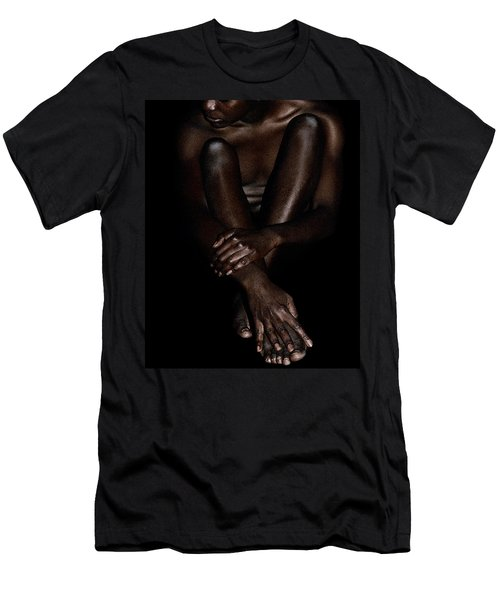 Seated Woman Men's T-Shirt (Athletic Fit)