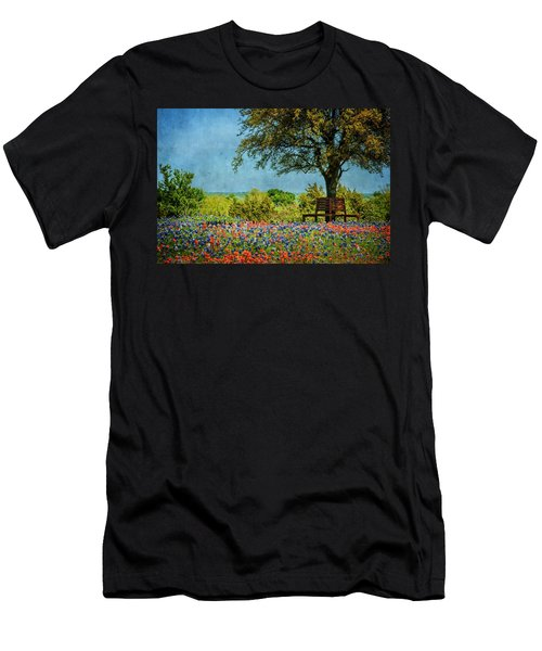 Men's T-Shirt (Slim Fit) featuring the photograph Seating For Two by Ken Smith