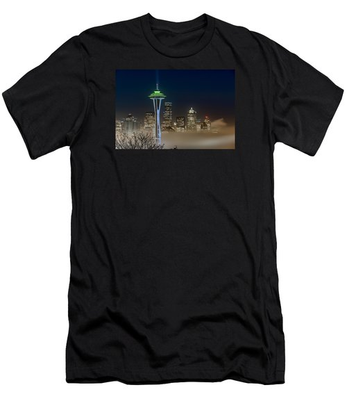 Seattle Foggy Night Lights Men's T-Shirt (Athletic Fit)