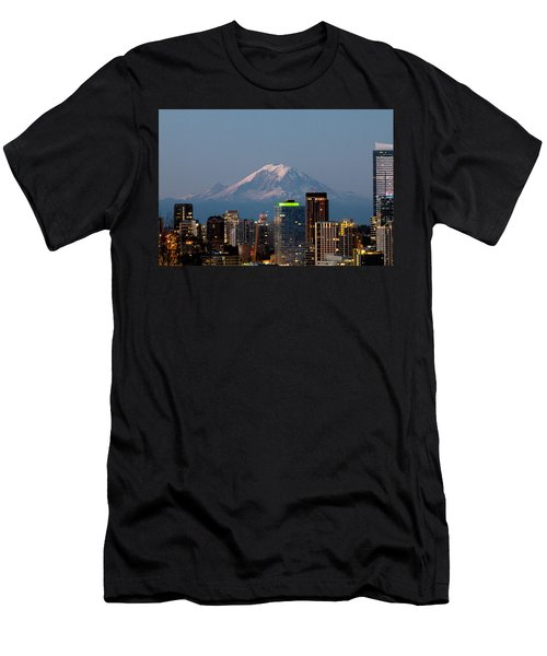 Seattle-mt. Rainier In The Morning Light.2 Men's T-Shirt (Athletic Fit)
