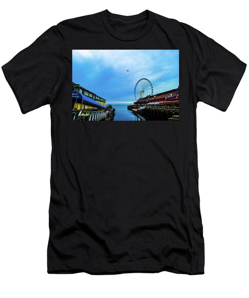 Seattle Pier 57 Men's T-Shirt (Athletic Fit)