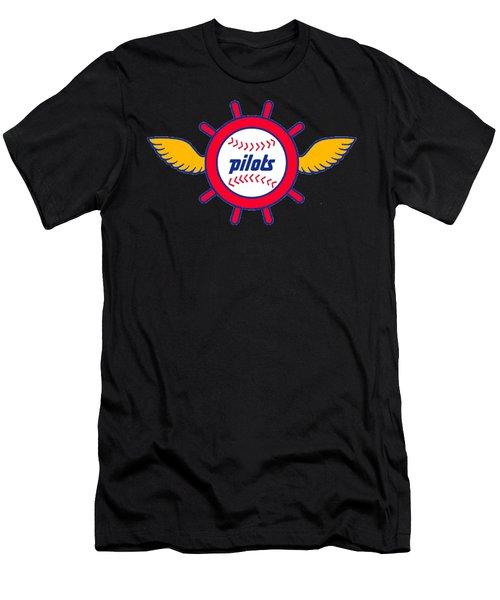 Seattle Pilots Retro Logo Men's T-Shirt (Athletic Fit)