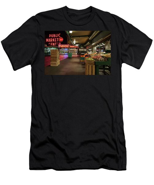 Seattle Public Market 2 Men's T-Shirt (Athletic Fit)