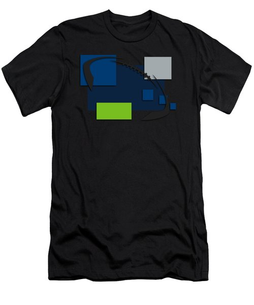 Seattle Seahawks Abstract Shirt Men's T-Shirt (Athletic Fit)