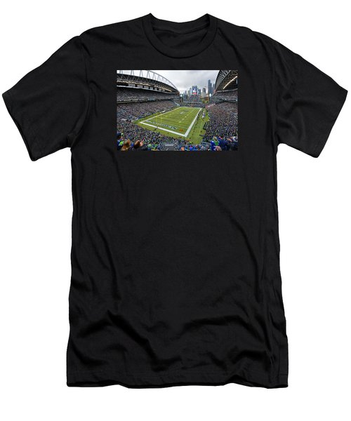 Seattle Seahawks Centurylink Field Men's T-Shirt (Athletic Fit)