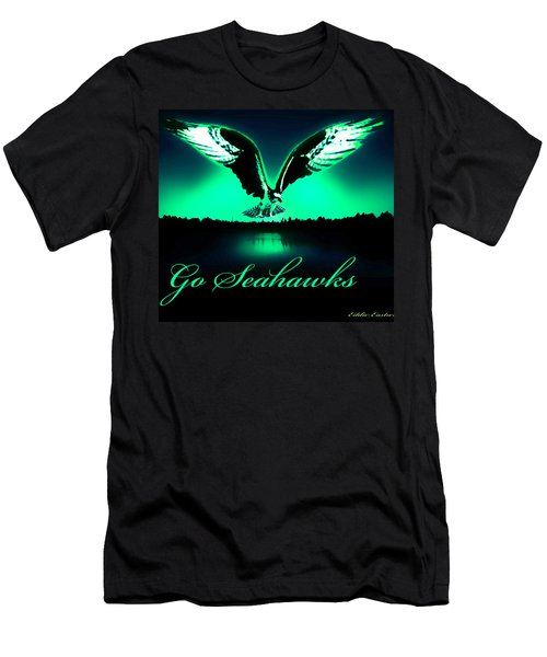 Men's T-Shirt (Slim Fit) featuring the photograph Seattle Seahawks by Eddie Eastwood