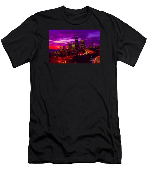 Seattle Shades Of Purple Men's T-Shirt (Athletic Fit)
