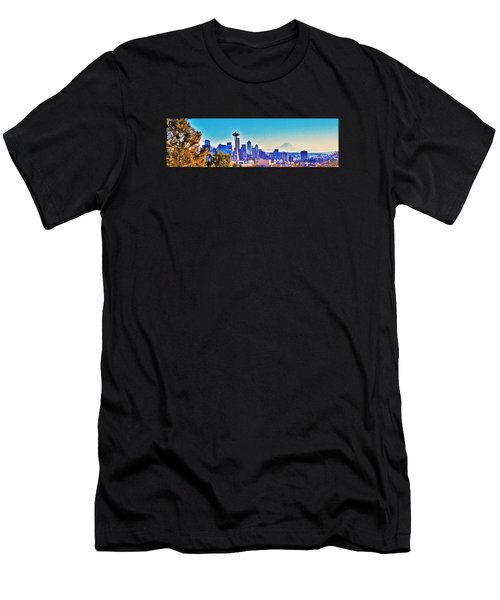 Seattle Sky Men's T-Shirt (Athletic Fit)