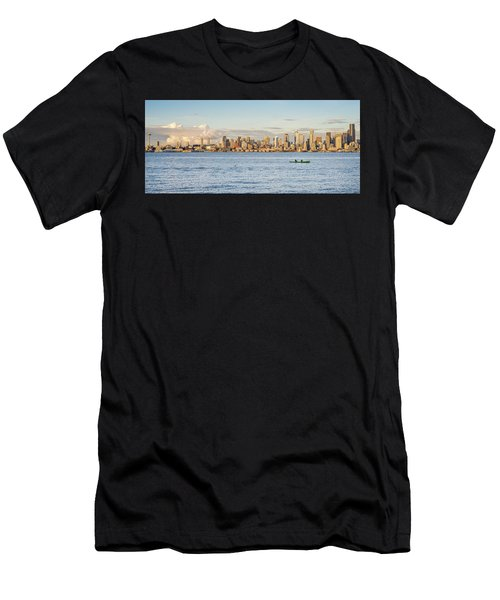 Seattle Skyline 2 Men's T-Shirt (Athletic Fit)