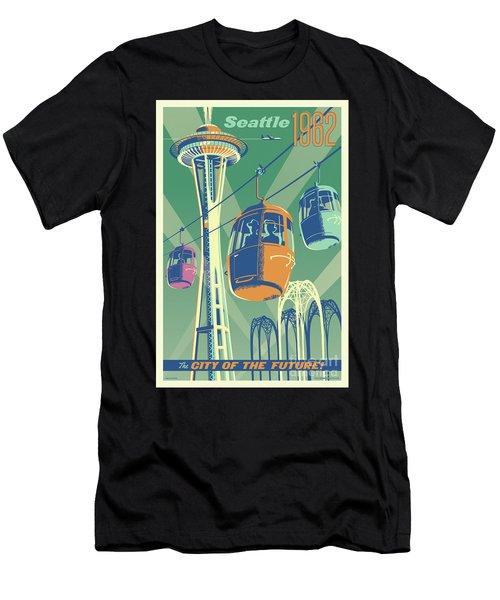 Seattle Space Needle 1962 - Alternate Men's T-Shirt (Athletic Fit)