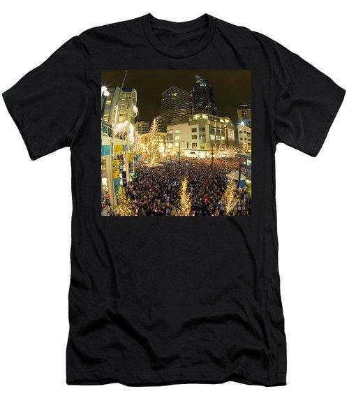 Seattle Westlake Tree Lighting Men's T-Shirt (Athletic Fit)