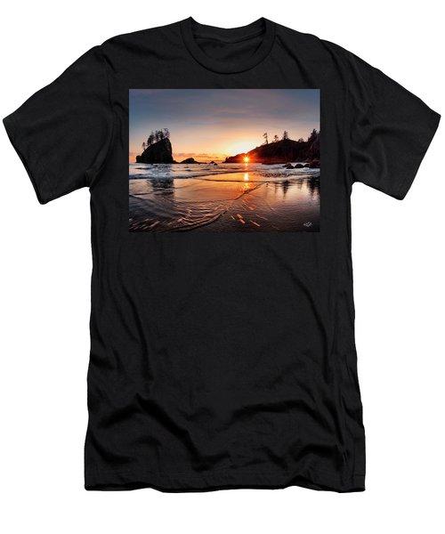 Second Beach 3 Men's T-Shirt (Slim Fit) by Leland D Howard